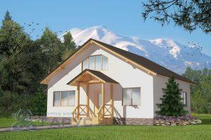 """Проект дома """"Альпы"""", 146,3м2"""