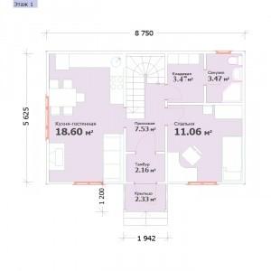 "Проект ""Виктория"" план первого этажа"
