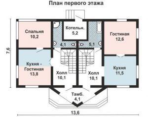 Дом на двух хозяев план первого этажа