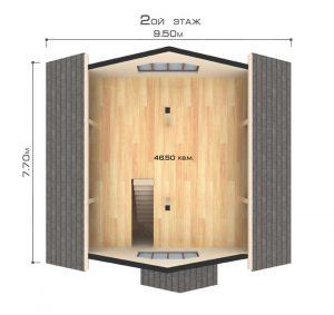 """Проект дома """"Альпы"""", второй этаж"""