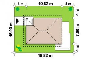 "Проект дома ""Куб 2"" вид сверху"