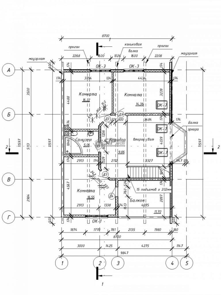 """Проект дома """"Ястреб"""" план этажа"""