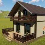 Проект дома из СИП панелей Балтсипдом