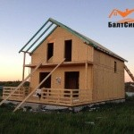 Процесс строительства СИП дома Балтсипдом