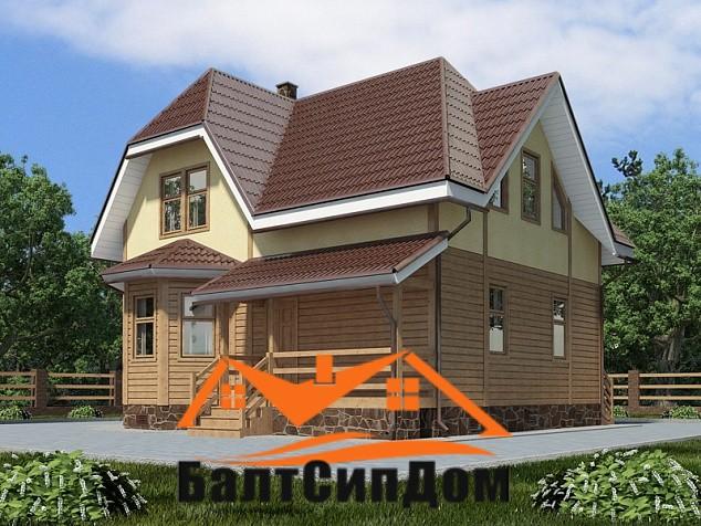 Проект дома из SIP панелей до 150 м2, БалтСипДом