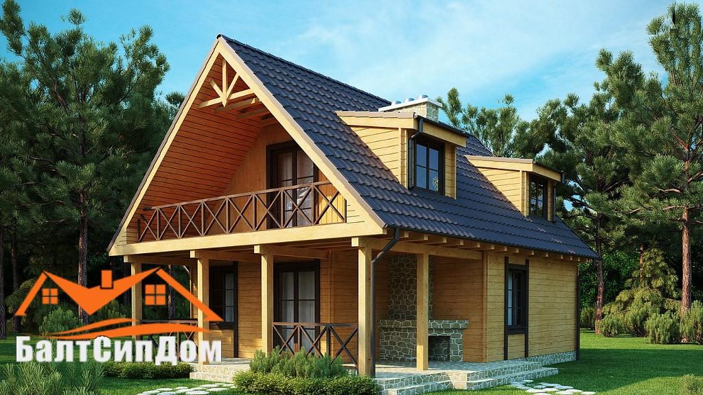 Проект SIP дома с мансардой