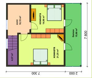 Дом по военной ипотеке. Второй этаж