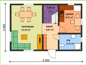 СИП-дом по военной ипотеке в Калининграде. Первый этаж