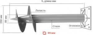 винтовые сваи диаметром 89 мм Калининград
