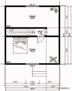План второго этажа дома Проект СИП 103