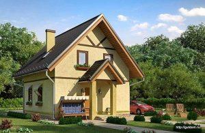 Проект дома с мансардой СИП-121 площадью 90 м2