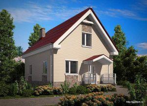 Проект двухэтажного дома СИП-103 площадью 91,5м2