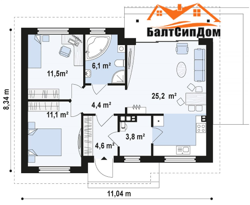 Проект дома, план этажа
