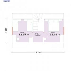 """Проект """"Виктория"""" план второго этажа"""