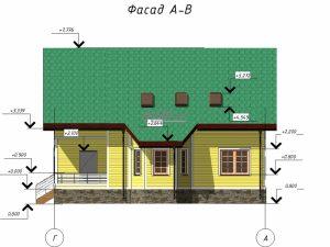 "Проект дома ""Ястреб"" фасад"