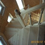 Лестница из дерева в Калининграде