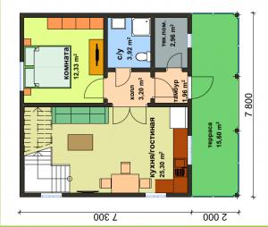 Дом по военной ипотеке. Первый этаж