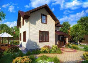 Проект двухэтажного дома СИП-123 площадью 106,33 м2